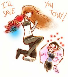 and more of tony uke, pepper looks like Pepper: ᕦ(ò_óˇ)ᕤ look tony i'm more stronger than you               Tony: you are right pepper , you always are right (≧ω≦)ノ