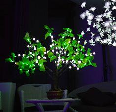 albero a led modello bonsai altezza cm 0,80  168 led consumo 13 w anche per uso esterno