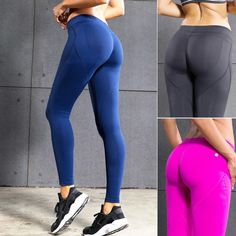 Great Value $15.90, Buy Fitness Yoga Pants Women Sexy Hips Push Up Leggings Quick Dry Running Tights Sports Gym Workout Pants Sportswear Female Trousers