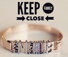 Keep family close…rose gold bangle shop online at: http://keep-collective.com/with/dustycrooke
