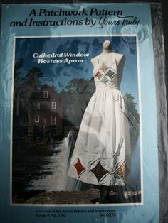 Vtg 1978 Cathedral Window Patchwork Quilt Apron by TheSewingDen, $7.99