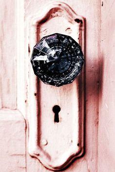 bedroom door.