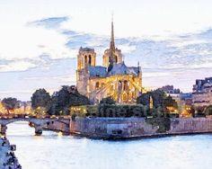 Paris:  A Fine Art Watercolor  Print for the by ChezLorraines