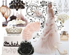 préparation mariage thème baroque