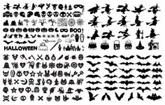 Halloween Silhouette Elements Collection Vector Graphic