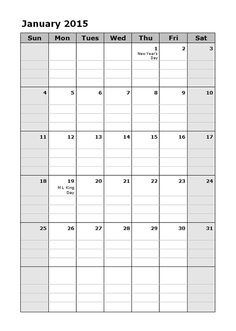 2015 Monthly Calendar Template | How I Planned For Our Homeschool Year Print Out Monthly Calendar