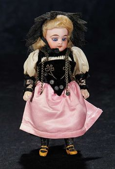 "8"" doll in folklore costume, S&H"