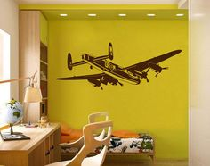 kik2282 Wall Decal Sticker plane air transport living children's bedroom