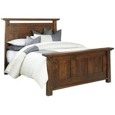 Amish Encada Rustic Bed ($1,838) ❤ Liked On Polyvore Featuring Home,  Furniture,