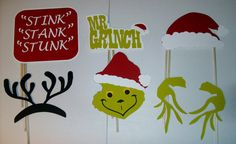 Holiday christmas photo props diy printable pdf guest pinner diy christmas photo booth prop mr grinch signs 13 by craftybooth solutioingenieria Image collections
