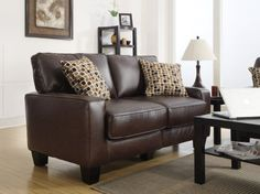 "Serta RTA Palisades Collection 61"" Bonded Leather Lovesea..."