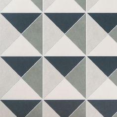 Auteur Diamond Navy Matte 9x9 PorcelainTile: Pattern 2 | Tilebar.com Unique Flooring, Outdoor Flooring, Outdoor Walls, Cleaning Tile Floors, Decorative Wall Tiles, Coastal Colors, Deco Blue, Encaustic Tile, Blue Tiles