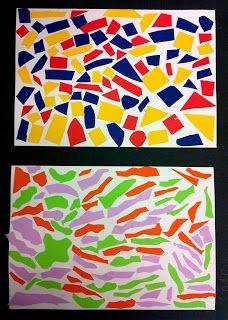 Art Room 104: Geometric vs. Organic shape collage