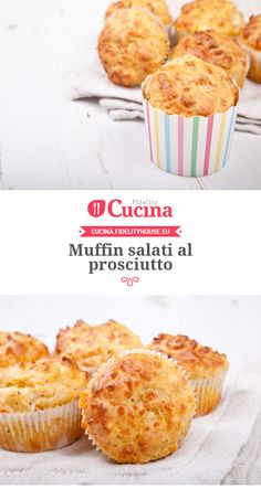 Muffin salati al prosciutto – Muffins Prosciutto, Finger Food Appetizers, Finger Foods, Buffet, Good Food, Yummy Food, Muffin Mix, Muffins, How To Cook Pasta