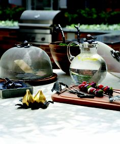 Michael Aram Fig Leaf Collection for outdoor / summer entertaining.