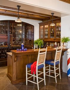 bar design, interesting bar design with rustic wine cellar also