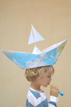 My hat would have colored pens, chocolate cupcakes, and lesson plans taped to it. Crazy Hat Day, Crazy Hats, Hat Crafts, Paper Crafts, Diy For Kids, Crafts For Kids, Wacky Hair, Unicorn Hat, Top Christmas Gifts