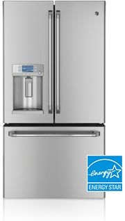 GE Café new refrigerator with Hot Water Dispenser | The first refrigerator with a HOT WATER DISPENSER Puts hot water right at your fingertips, allowing you to make hot drinks and prepare hot foods easier than ever before.