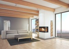 Jotul is suitable for old fireplaces as well as a more contemporary design - Wood Burning Fireplace Inserts Contemporary Fireplace Designs, Contemporary Design, Modern Wood Burning Stoves, Old Fireplace, Fireplaces, Wood Burning Fireplace Inserts, Log Burner, Gas Stove, Wood Design