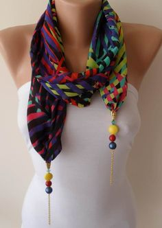 Unique Cotton Scarf Shawl Gift Scarf Women Gift Scarf Personalized for Her Girlfriend gift for her Lace Scarf personalized gift – 2019 - Chiffon Diy Diy Scarf, Lace Scarf, Cotton Scarf, Scarf Necklace, Scarf Jewelry, Fabric Jewelry, Kurti Sleeves Design, Chiffon Fabric, Colorful Fashion