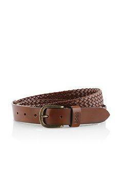 Cintura 'Calito' in pelle di vacchetta, Marrone