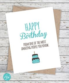 Funny Birthday Card - Boyfriend Birthday - Friend Birthday - Funny Card  - Happy Birthday from one of the most amazing people you know. by FlairandPaper on Etsy