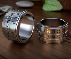 The Ring Clock: This award winning rechargeable time piece was designed by Gusztav Szikszai