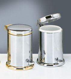 Decor Walther Decorative Bathroom Accessories Chrome Gold Pedal Bins Waste Harlequin London