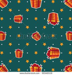 Seamless christmas pattern with a lot of present and gift boxes on a green background. Happy New Year, Merry Christmas, Christmas decorations. Suitable for packaging, packaging design