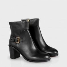 Paul Smith Women's Shoes - Black Leather Hoxby Ankle Boots
