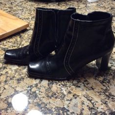 Nickels ankle boots.  WEEKEND SALE Black ankle boots.   Worn once.   Tiny mark on heel of left boot. Nickels Shoes Ankle Boots & Booties