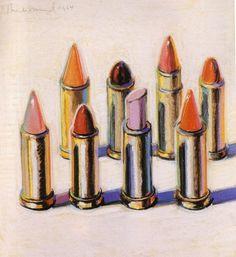 Wayne Thiebaud, Lipsticks (1964)