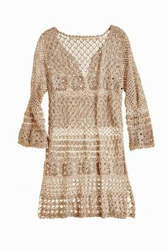 Outstanding Crochet: Crochet tunic from Calypso.