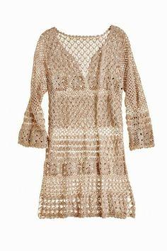 Outstanding Crochet: Crochet tunic from Calypso.