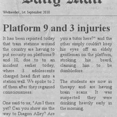 people injuring themselves trying to get onto platform 9 3/4.