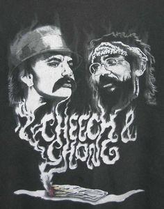 CHEECH & CHONG JOINT APPEARANCE T-SHIRT Adult Size XL Black