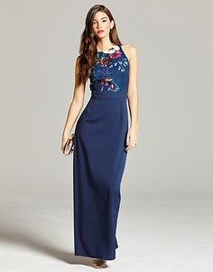 daec98fc3b Womens bright navy little mistress floral print maxi dress from Lipsy - £65  at ClothingByColour