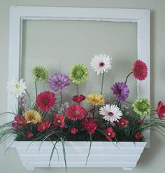 """Window"" flower box.  So cute for a little girl's room"