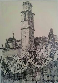 Esglesia de Sant Boi de Lluçanès (Barcelona). Joaquim Francés -tinta