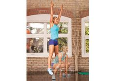 Oxygen Women's Fitness | Training | Tone and trim with plyo-Pilates... frog jump