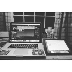 Found away to use my iPad as a dual screen on my macbook which is pretty cool for a 79p (ATM) app. #Tech #iPad #dualscreen by photooomph
