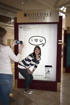The Ambient Advert titled Caribou Coffee: I love you was done by Colle + Mcvoy advertising agency for product: Caribou Coffee (brand: Caribou Coffee) in United States. Street Marketing, Guerilla Marketing, Interactive Poster, Instagram Advertising, Caribou Coffee, Ads Creative, I Love You, My Love, Coffee Branding