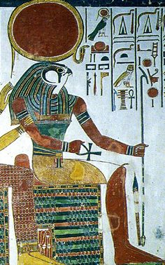 Re, or Ra, was the sun god. In the Old Kingdom (the time when the pyramids were built), he was king of the gods, and as Atum-Re he was the god who created the world and human beings.