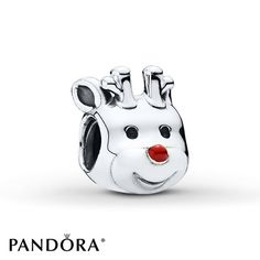 Red-Nosed Reindeer | A tribute to the classic tale of Rudolph, the Red-Nosed Reindeer, this whimsical cake pop-inspired charm from the PANDORA 2015 Winter collection embodies the spirit of the season. The sterling silver version of the popular reindeer figure with a red enamel nose is sure to put you in the Christmas mood. Style # 791781EN39.