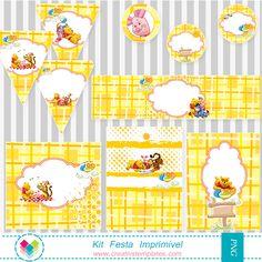 Kit festa Pooh - Printable Party - Pooh
