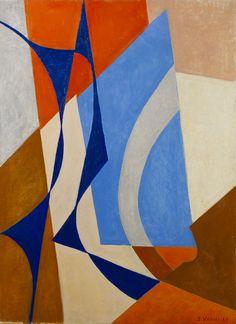 Sam Vanni Sommitelma, öljy kankaalle, 81 x 60 cm - Hagelstam Geometric Painting, Abstract Art, Constructivism, Op Art, Expressionism, Diy Painting, Finland, Illustration, Modern Art
