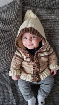 Baby jacket with hood size Source by angelikavollrath Baby Sweater Patterns, Baby Sweater Knitting Pattern, Baby Knitting Patterns, Baby Patterns, Crochet Baby Sweaters, Crochet Baby Clothes, Knit Crochet, Crochet For Boys, Boys Sweaters