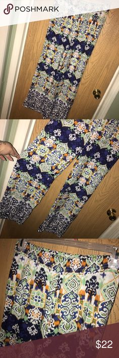 """BeachLunchLounge boho pants Super cute printed boho pants, could be used as a swim cover up. Elastic waistband. 29"""" inseam. BeachLunchLounge Swim Coverups"""