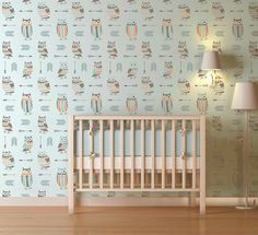 Love to DIY? These Owls and Arrows Nursery Stencil from @cestencils make such a fun accent wall in the nursery! Enter to win!