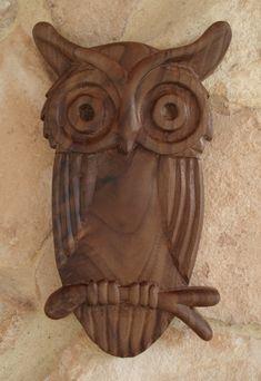 buho madera tallado - Buscar con Google